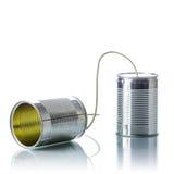 Telefone das latas de lata Imagem de Stock Royalty Free