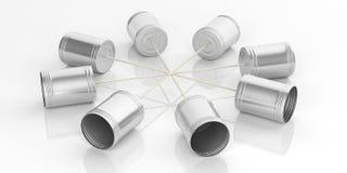 telefone das latas de lata da rendição 3d ilustração royalty free