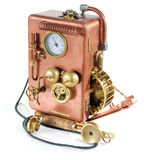 Telefone de cobre. Fotos de Stock