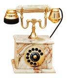 Telefone de mármore do vintage foto de stock
