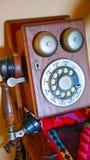 Telefone de madeira Foto de Stock Royalty Free