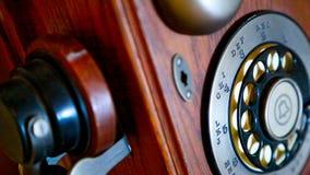 Telefone de madeira Imagem de Stock Royalty Free