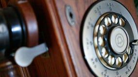 Telefone de madeira Fotografia de Stock