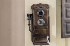 Telefone de madeira retro Imagem de Stock Royalty Free