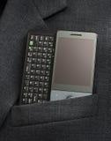 Telefone de PDA no bolso Fotografia de Stock Royalty Free
