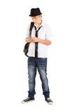 Telefone de pilha adolescente Imagens de Stock