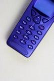 Telefone de pilha azul Fotografia de Stock