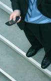 Telefone de pilha do negócio fotografia de stock royalty free