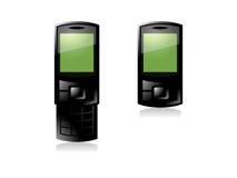 Telefone de pilha verde ilustração stock