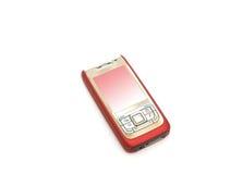 Telefone de pilha vermelha Imagem de Stock Royalty Free