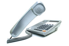 Telefone de prata Imagem de Stock Royalty Free