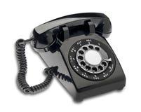 Telefone de seletor preto, isolado Foto de Stock