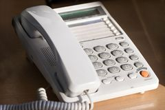 Telefone de tabela Foto de Stock