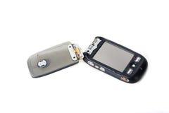 Telefone de tela preto quebrado do toque Imagens de Stock