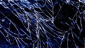 Telefone de vidro frágil quebrado fotografia de stock
