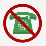 Telefone denominado retro ilustração royalty free