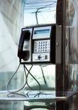 Telefone do aeroporto imagem de stock