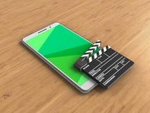 telefone do branco 3d Fotos de Stock