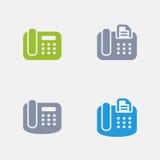 Telefone do escritório - ícones do granito ilustração do vetor