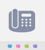 Telefone do escritório - ícones do granito ilustração royalty free