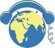 Telefone do globo ilustração do vetor