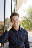 Telefone do homem de negócio Imagens de Stock Royalty Free