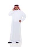 Telefone do Oriente Médio do homem Imagens de Stock Royalty Free