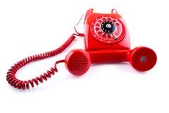 Telefone do vermelho do vintage Foto de Stock