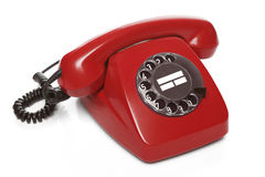 Telefone do vermelho do vintage Fotografia de Stock Royalty Free