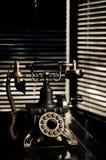 Telefone do vintage de Noir da película Fotos de Stock Royalty Free