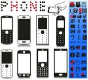 Telefone e menu Imagens de Stock