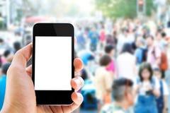 Telefone e povos espertos Foto de Stock