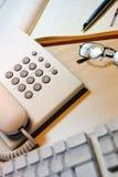 Telefone e teclado Fotos de Stock Royalty Free