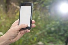 Telefone esperto com área da apresentação Imagens de Stock