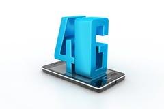 Telefone esperto com 4G Foto de Stock Royalty Free