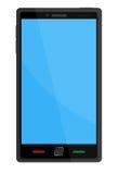 Telefone esperto com tela azul Fotografia de Stock Royalty Free
