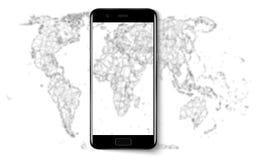 Telefone esperto Telefone esperto do telefone celular realístico com a tela vazia isolada no fundo Ilustração do vetor para impri Fotografia de Stock