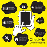 telefone esperto do tela táctil, infographic Fotos de Stock