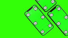 Telefone esperto isolado com tela verde ilustração stock