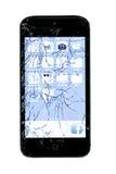 Telefone esperto quebrado Fotos de Stock Royalty Free