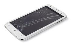 Telefone esperto quebrado Imagem de Stock Royalty Free