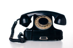 Telefone giratório preto Imagem de Stock
