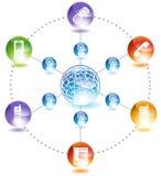 Telefone global ilustração stock