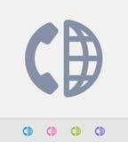 Telefone & globo - ícones do granito ilustração stock