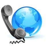 Telefone-globo (1) .jpg Fotos de Stock Royalty Free