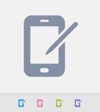 Telefone híbrido - ícones do granito ilustração stock