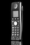 Telefone isolado no preto Foto de Stock