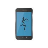 Telefone liso com uma tela quebrada Ícone para o reparo Fotos de Stock Royalty Free