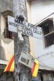 Telefone livre em Zanzibar imagem de stock royalty free