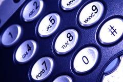 Telefone - luz azul Foto de Stock Royalty Free